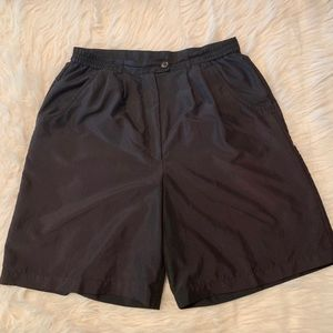 AW Golf by Allyson Whitmore Solid Black Shorts 12